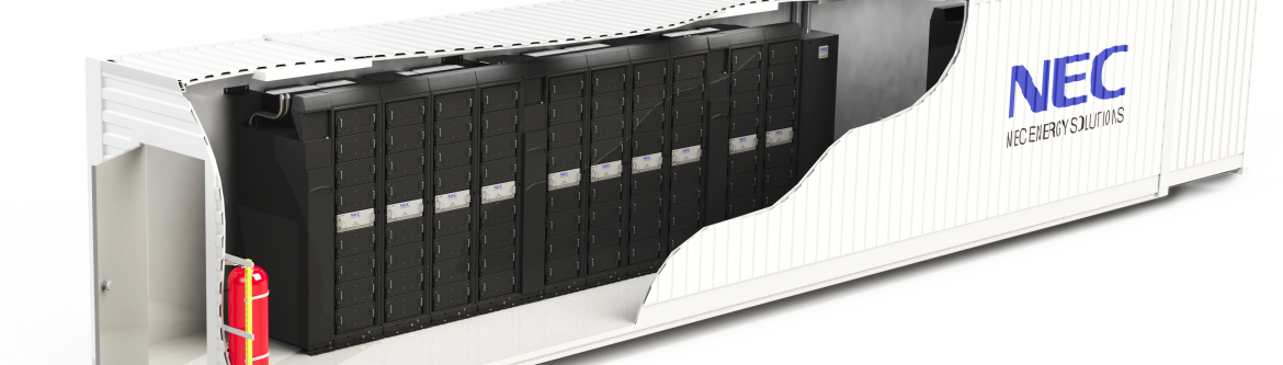 Commonly deployed grid-scale energy storage solution from NEC Energy Solutions. Click the image for more info.