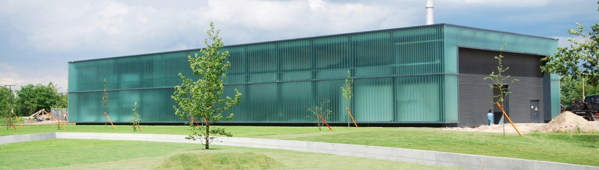 Grid battery storage in custom building, Younicos.  Click the image for more info.